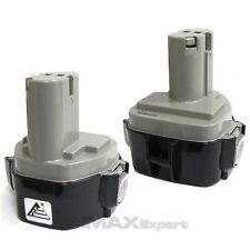 2 x 12V 12 VOLT 3.0AH 3000mAh Ni-MH Battery for MAKITA 1235F 193138-9 193157-5