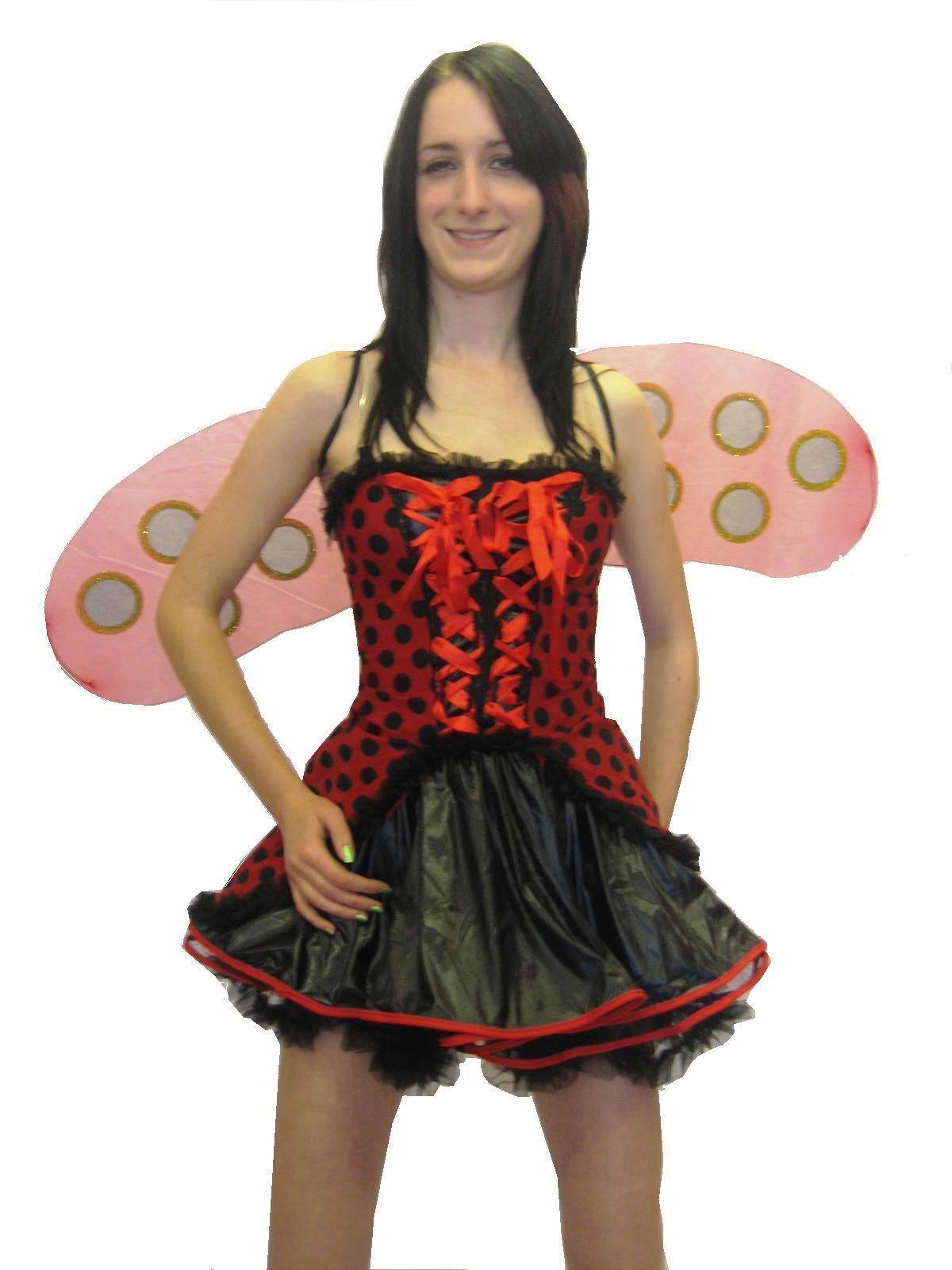 Lady Bug/Bird Sexy Fancy Dress Costume Halloween 6 Pcs