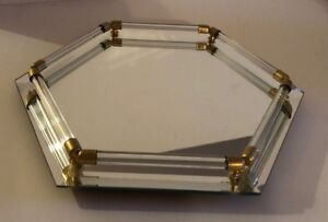 Vintage-Vanity-Tray-Hexagon-Mirrored-Glass-Rod-Footed-Mid-Century-Price-Products
