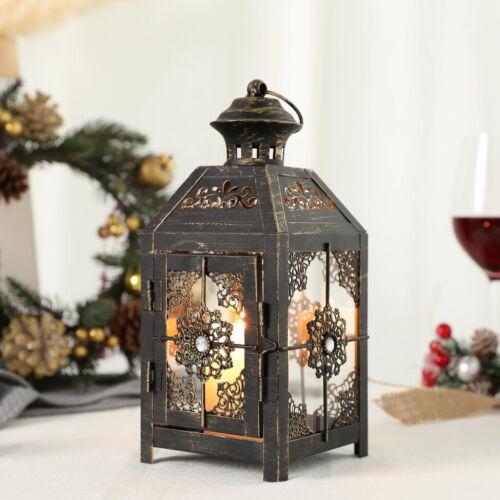 """Lantern 9.5/"""" High Metal Candle Lantern Vintage Style Hanging Lantern for Wedding"""