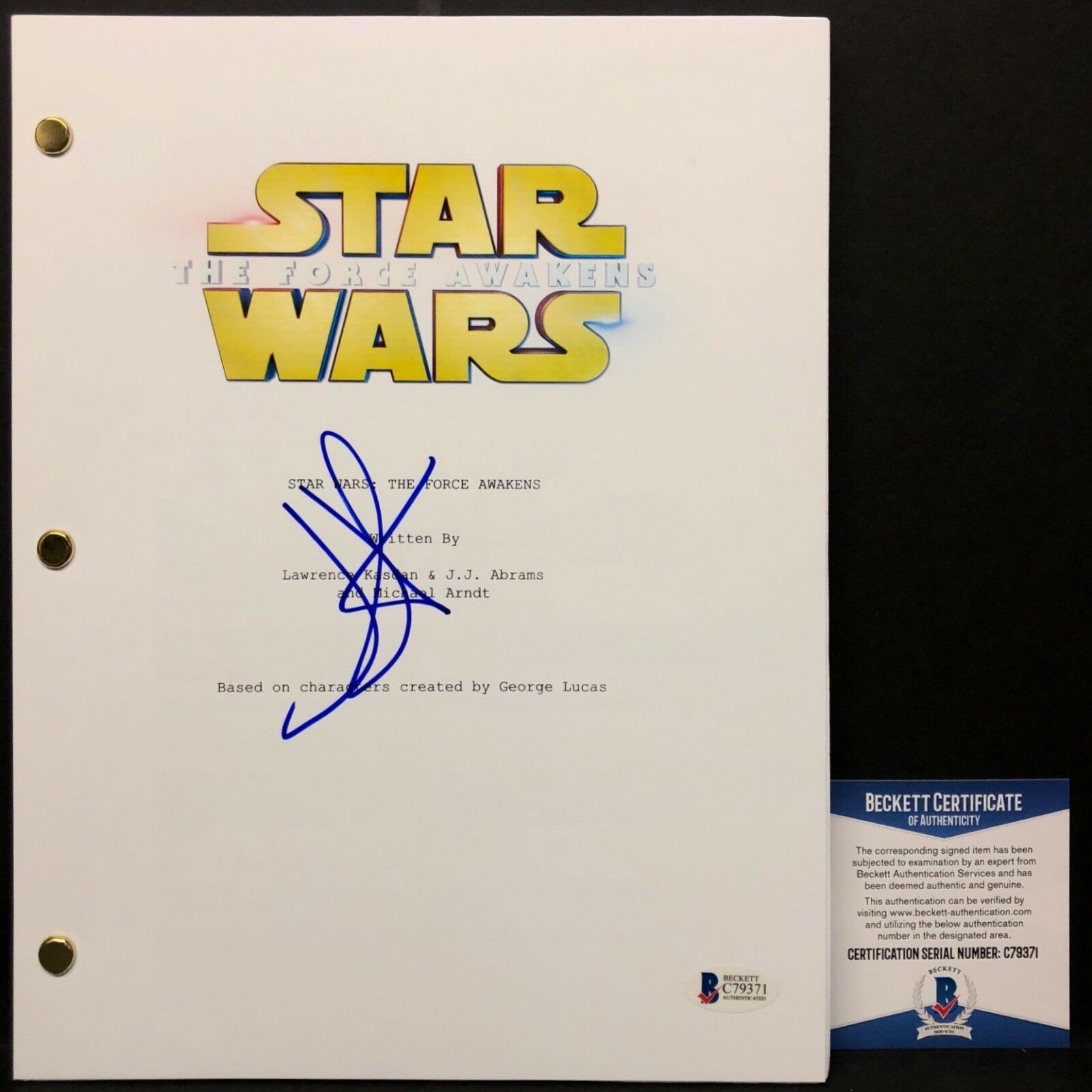 J.J. JJ Abrams Signed