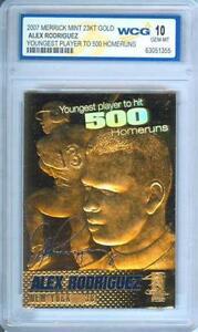 ALEX-RODRIGUEZ-500-Homeruns-2007-23KT-Gold-Card-Sculpted-GEM-MINT-10-BOGO