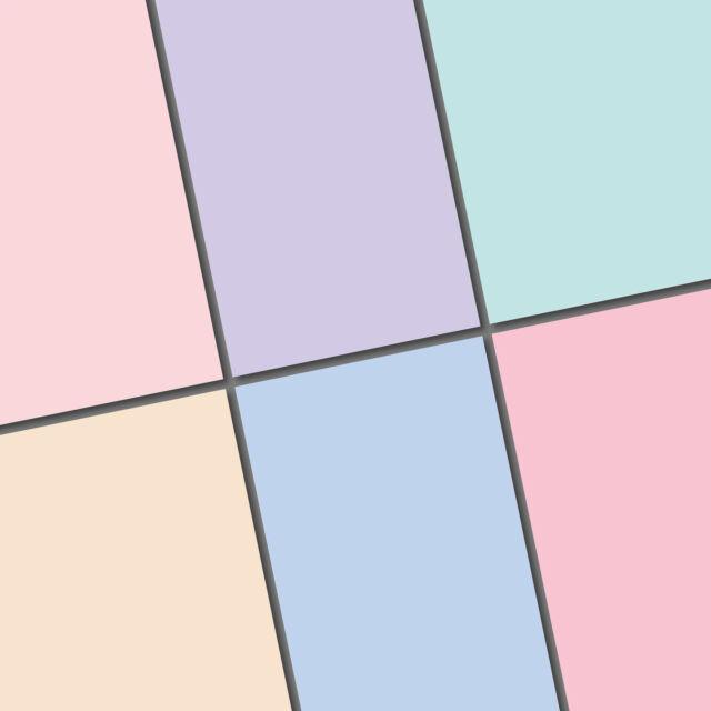 exclusive 48 / 24pc Solid pastel color scrapbook paper 6 colors 148x140mm
