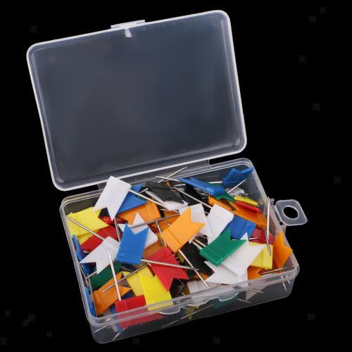 100 Stücke Karte Flagge Push Pins Reißnägel Zeichnung Pins Sortierte