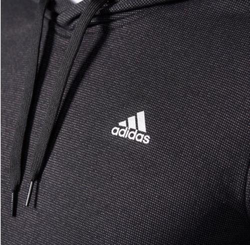 Adidas Men/'s Lightweight Pullover  Hoodie Textured Black