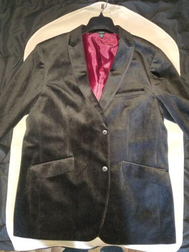 Men's Sports Jacket, Black, Velvet Look, Large