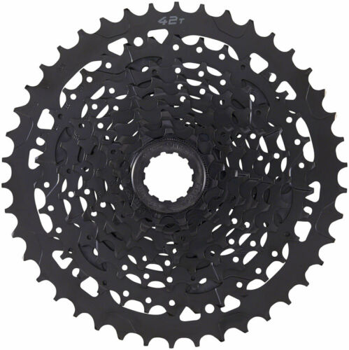 Black Alloy Large Cog microSHIFT ADVENT Cassette 9 Speed 11-42t ED Coated