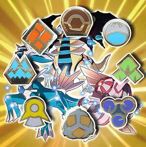 Complete-8-x-Gold-Sinnoh-Gym-Leader-Badges-Lapel-Pins-Pokemon-Series-IV