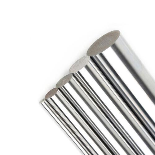 OD 25mm Axis Chromed Smooth Rod Steel Linear Rail Shaft Length 200//300//400//500mm