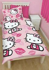Hello Kitty Bettbezug Kiss Bettwäsche Wendebettwäsche Hello Kitty Kiss