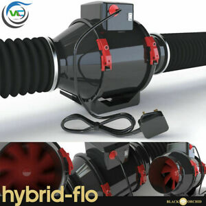 """10/"""" Extractor Fan Grow Room Tent Hydroponic Black Orchid Inline Centrifugal 250mm Dia 10 250mm"""