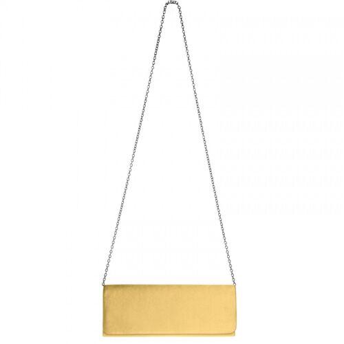 CASPAR TA278 elegante Damen Baguette Satin Clutch Tasche Abendtasche Brauttasche