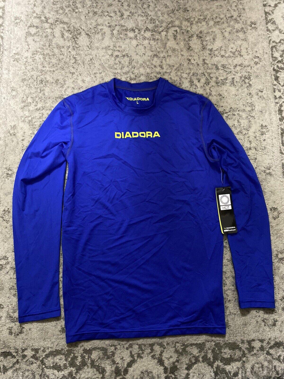 Diadora Hot Club Base Layer Blue Size Large Men's BNWT.