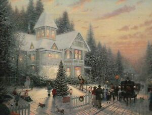 image is loading victorian christmas painter of light art card thomas