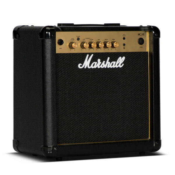 marshall mg15g 15w black and gold combo guitar amplifier for sale online ebay. Black Bedroom Furniture Sets. Home Design Ideas
