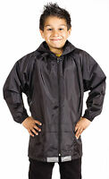 Boys Girls Kids Waterproof Rain Jacket Kagoul Kagool Rain Coat