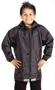 Boys-Girls-Kids-Waterproof-Rain-Jacket-Kagoul-Kagool-School-Rain-Jacket-Coat