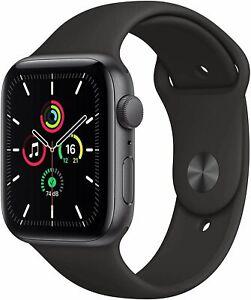 Apple Watch SE 40mm Boîtier en aluminium gris sidéral avec bracelet sport Noir