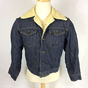 2c346aac87 Vintage 60 s Sears Roebucks Denim Jean Sherpa Shearling Chore Work ...