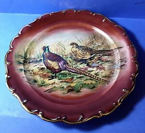 Bayreuth-Bavaria-Collector-039-s-Plate-Charger-West-Germany-Pheasants-Game-Birds