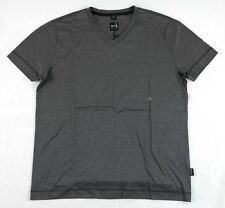 Hugo Boss GR-Messina Gray V-neck Microstriped T-Shirt Sz. S BNWT 100% Authentic