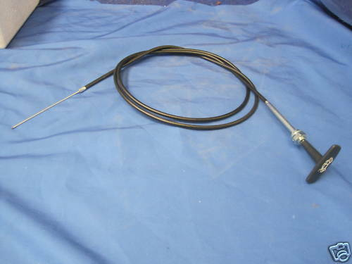 MG NEW MGB ROADSTER OR GT BONNET RELEASE CABLE T PULL HANDLE  AHH6426   FG10***