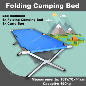 Folding-Camping-Bed-Stretcher-Light-Weight-Camp-Portable-with-Carry-Bag