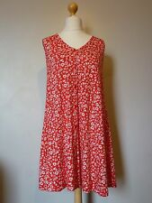 ASOS Sleeveless Floral Button Front Detail Dress Size 10 BNWT Red Uk Freepost