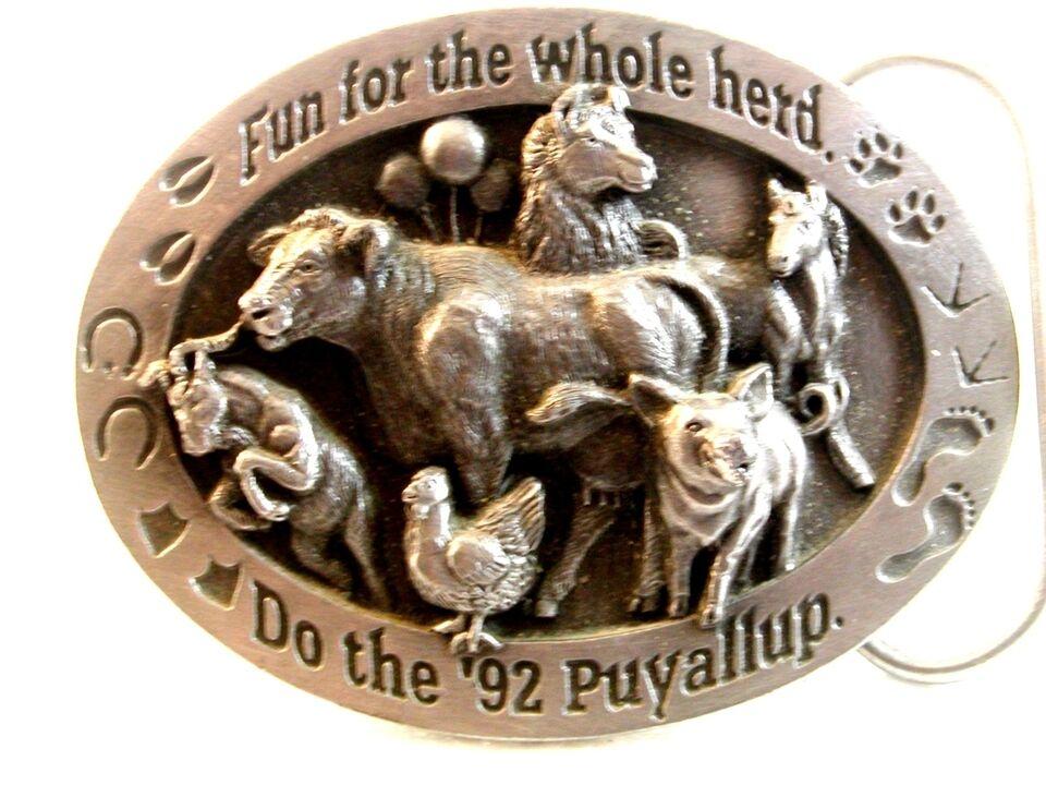 1992 Siskiyou Spaß Für die Ganze Herde Puyallup Gürtelschnalle