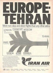 1971-Original-Advertising-039-Vintage-Iran-Air-Airlines-Company-Aerial