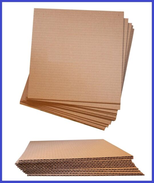50 Pack - Corrugated Cardboard Layer Pad Insert Sheet Divider (Large) - 6 Sizes