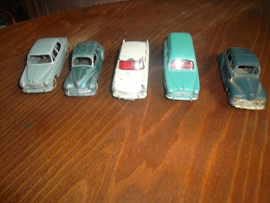 dinky toys , norev , CIJ , 5 5 5 voitures lot de peugeot 0fd34b