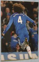 David Luiz Signed football Picture (rare) Chelsea / Brazil