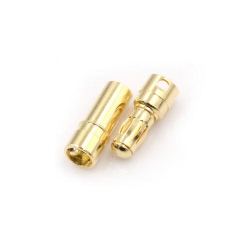 10 Paar 3,5mm Gold-plated Bullet Bananenstecker Männlich Und Weibl PDH