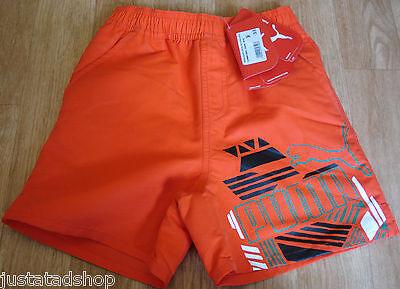 Puma Garçon Plage Shorts De Bain 7 8 Y 128 cm Bnwt Rouge | eBay
