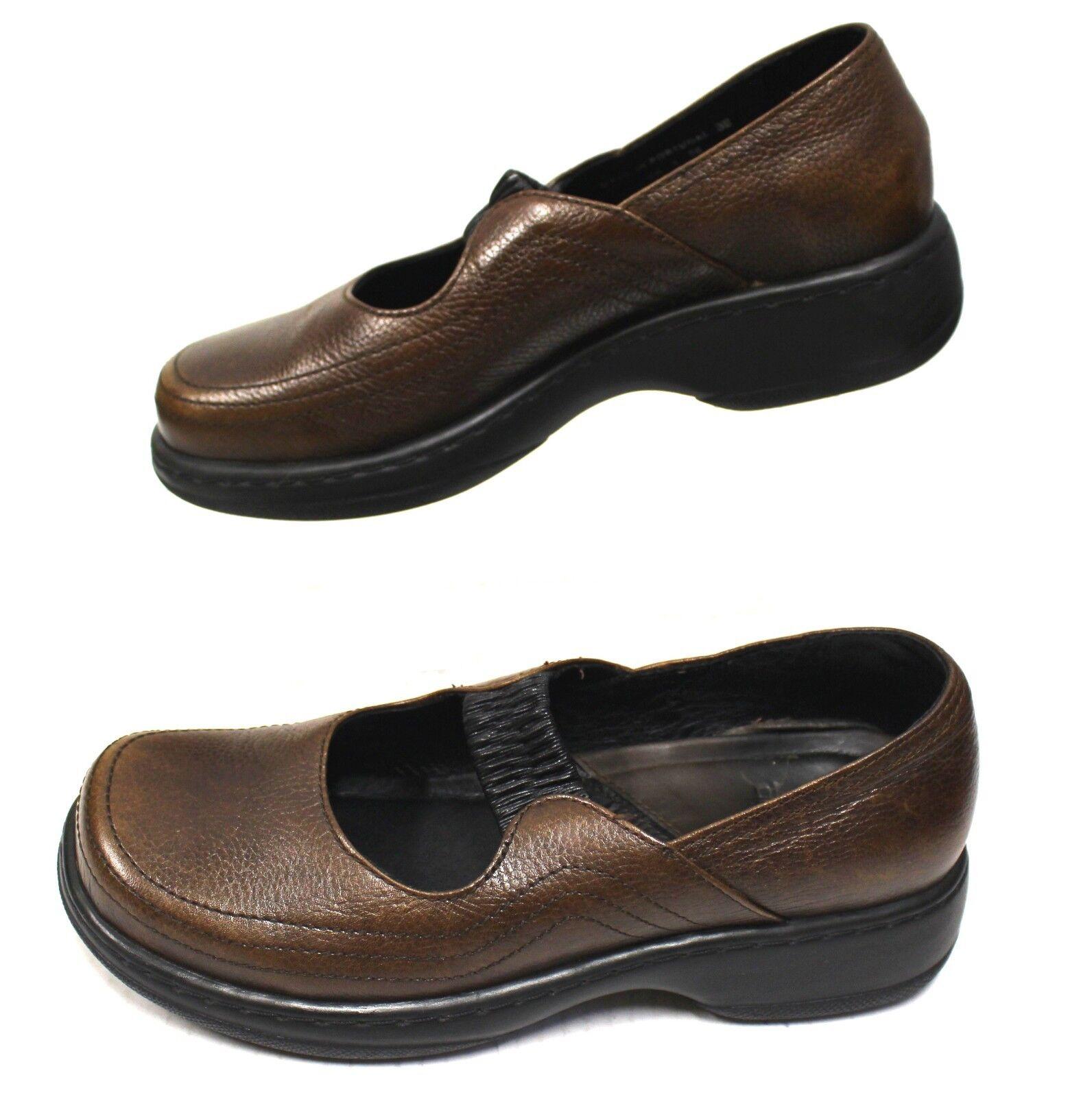 Dansko 2496 Mujeres Zuecos Zapatos de cuña de 8 8 8 38 Mary Janes enfermera profesional de cuero  diseños exclusivos