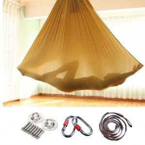 Yoga-Swing-Aerial-Hammock-Trapeze-Inversion-Anti-gravity-Kit-Large-Strong-5x2-8m