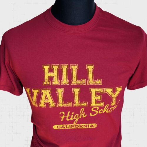 Hill Valley High School New Movie T Shirt 80/'s Back to the Future Vintage Cool r