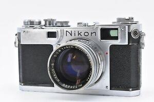 EXC-Nikon-s2-Rangefinder-Film-Camera-Nikkor-SC-5cm-50mm-f-1-4-aus-Japan