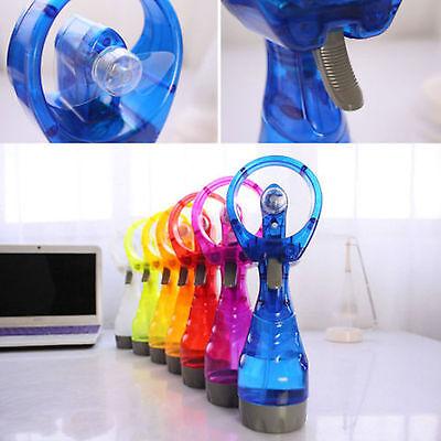 Portable Hand Held Water Spray Fan Battery Power Cooling Mist PVC  Bottle