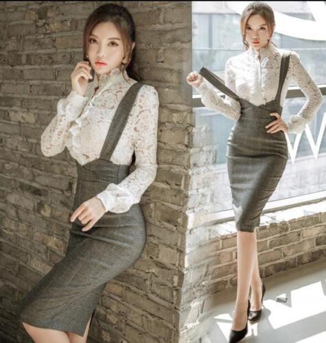 colletti in in moda Wrap 2pcs Womens generale Dress pizzo formale camicette formale Stand wYUEqU6