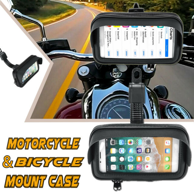 Motorcycle Bike Bicycle Handlebar Mount Holder Phone GPS Case Cover Waterproof