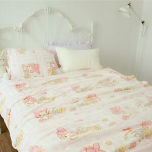 Cute-Melody-Little-Twin-Stars-Flannel-Sheet-Pillowcase-Anime-Soft-Throw-Blanket