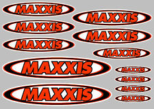 MAXXIS decal set 12 quality printed and laminated motorcycle stickers