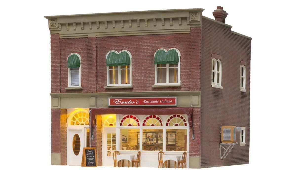 Woodland Scenics BR5855, o escala construido y listo, Emilio's restaurante italiano 5855