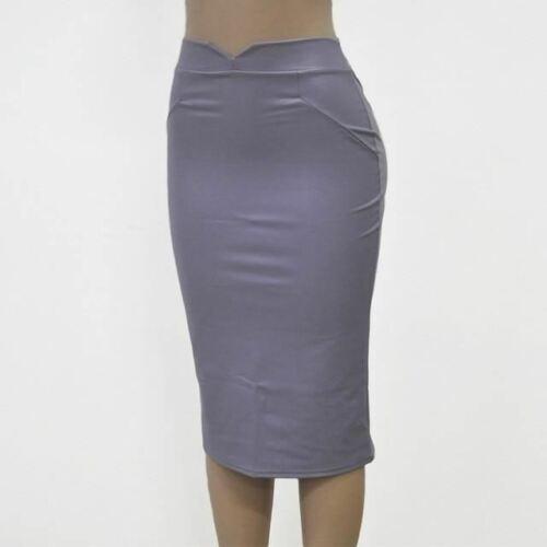 Women Leather Skirt High Waist Slim Party Pencil Skirts