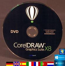 Corel DRAW Graphics Suite x8 DVD di installazione versione completa/upgrade de/ML NUOVO