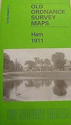 Old Ordnance Survey Map Ham Surrey 1911 Sheet 6.12 Brand New