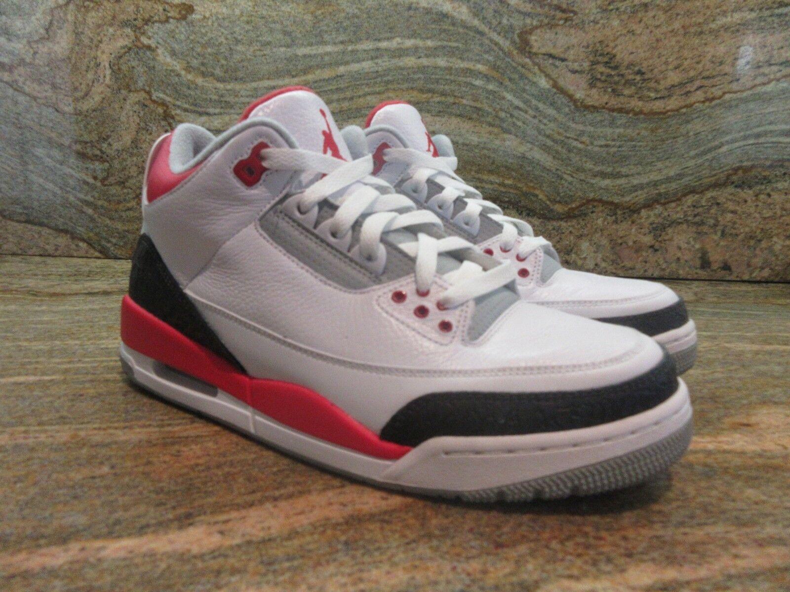 2018 Nike Retro Air Jordan 3 III Retro Nike 88 og rojo fuego Cemento Blanco 1360642018 e1a7d4