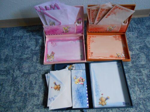 jeweils 1 Umschlag,1Bogen 6tlg. Pimboli Briefpapier aus  Box 02//2005-9,10,11